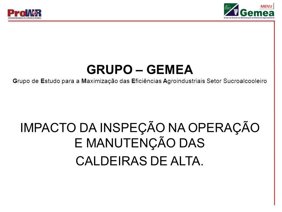 IMPACTO DA INSPEÇÃO NA OPERAÇÃO E MANUTENÇÃO DAS CALDEIRAS DE ALTA.