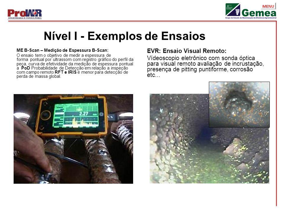 Nível I - Exemplos de Ensaios