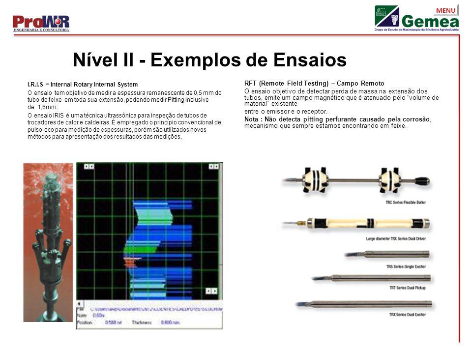 Nível II - Exemplos de Ensaios
