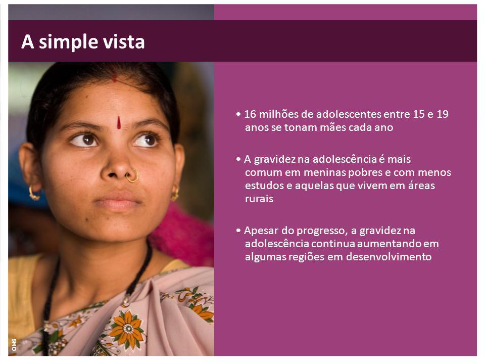 A simple vista • 16 milhões de adolescentes entre 15 e 19 anos se tonam mães cada ano.