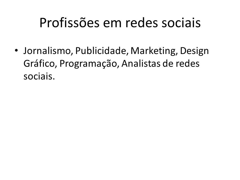 Profissões em redes sociais