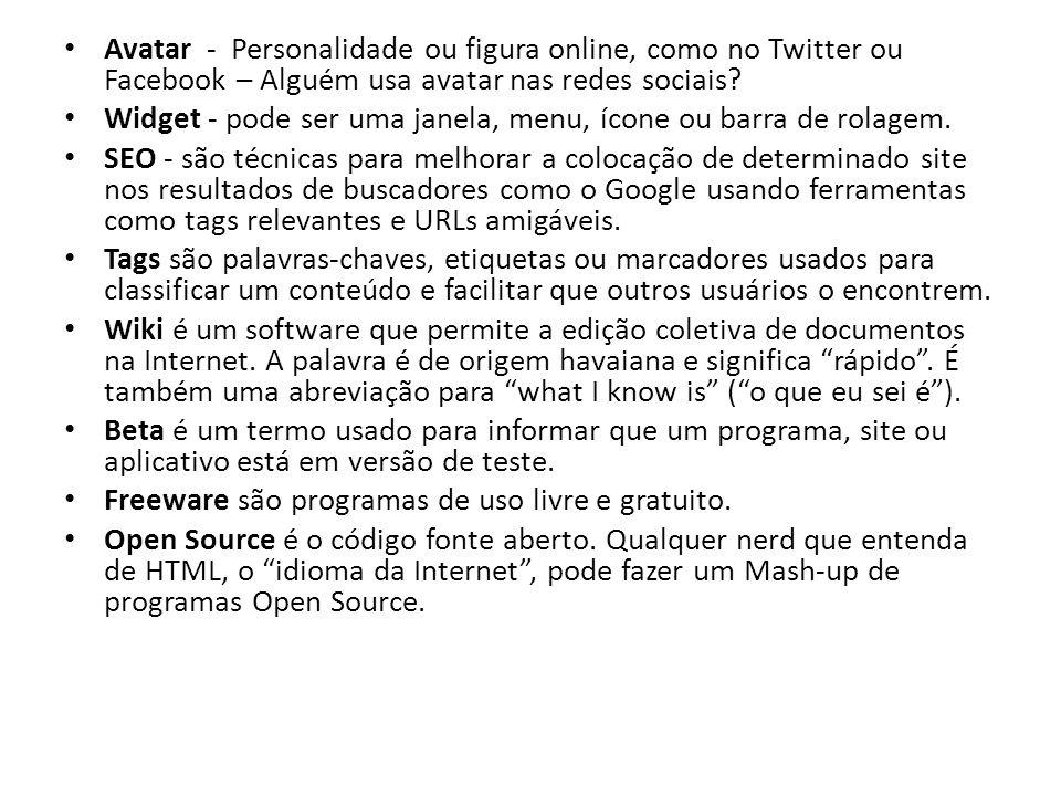 Avatar - Personalidade ou figura online, como no Twitter ou Facebook – Alguém usa avatar nas redes sociais