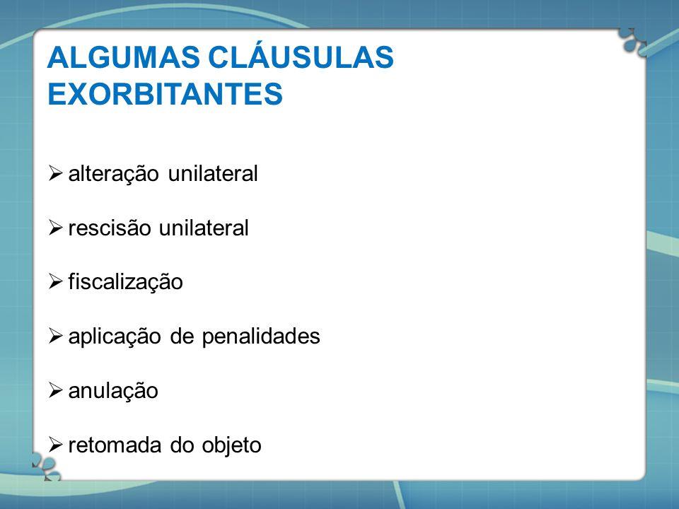 ALGUMAS CLÁUSULAS EXORBITANTES