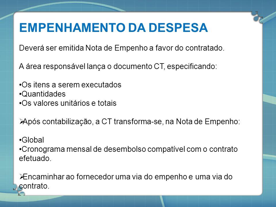 EMPENHAMENTO DA DESPESA