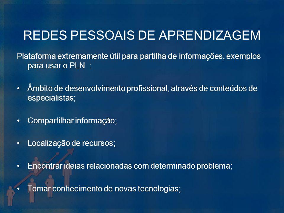 REDES PESSOAIS DE APRENDIZAGEM