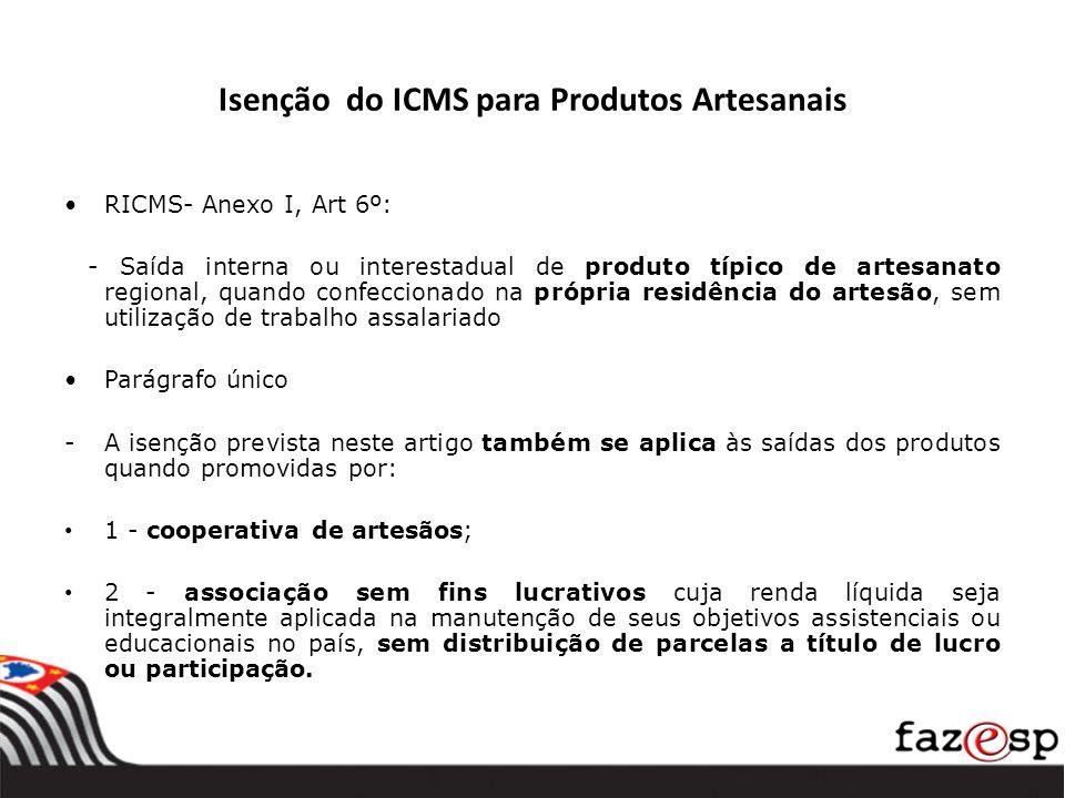 Isenção do ICMS para Produtos Artesanais