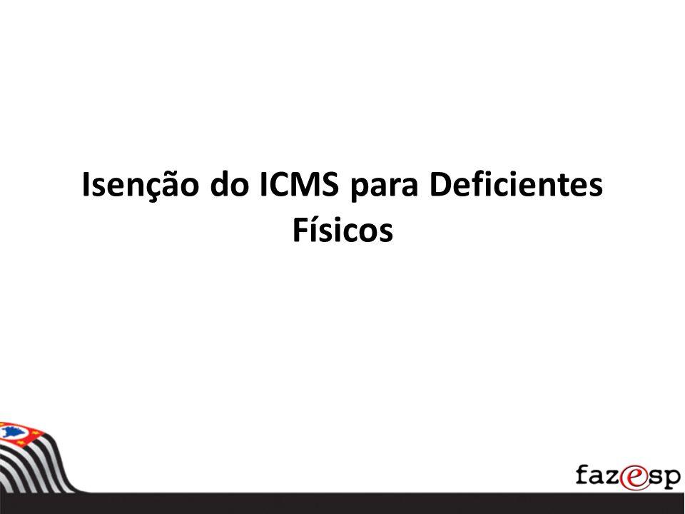 Isenção do ICMS para Deficientes Físicos