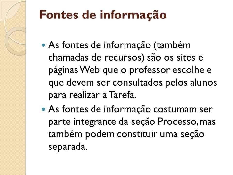 Fontes de informação