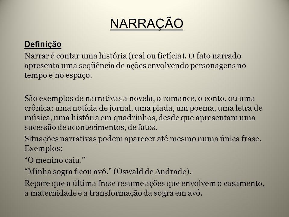NARRAÇÃO Definição.