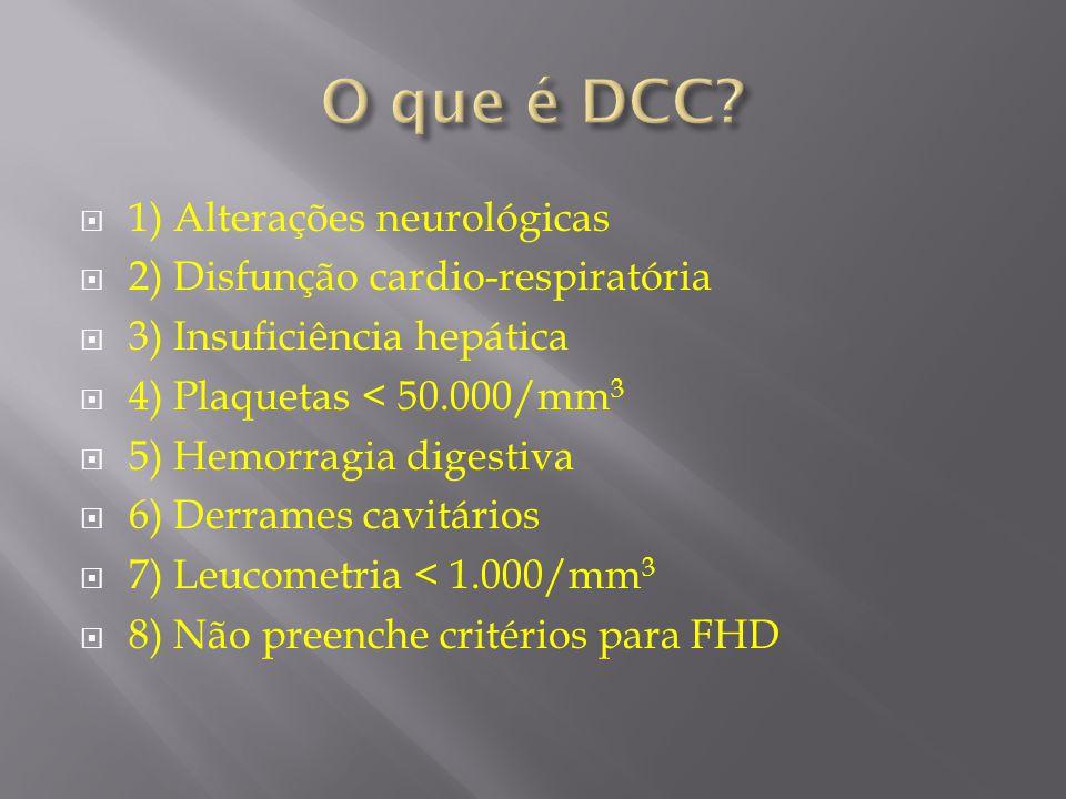O que é DCC 1) Alterações neurológicas