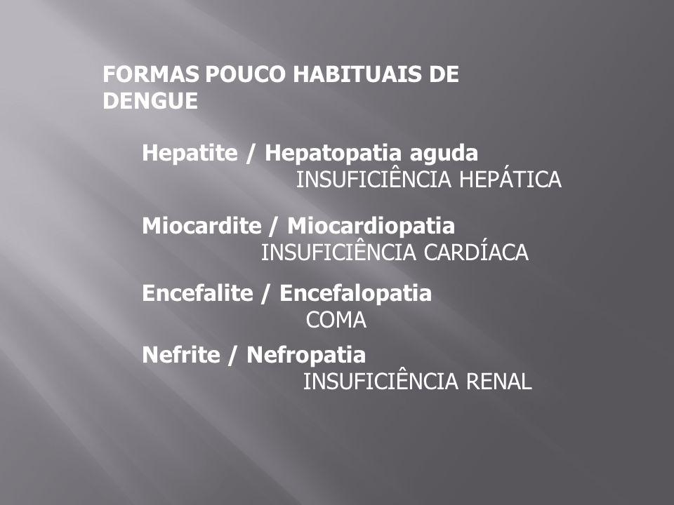 FORMAS POUCO HABITUAIS DE DENGUE