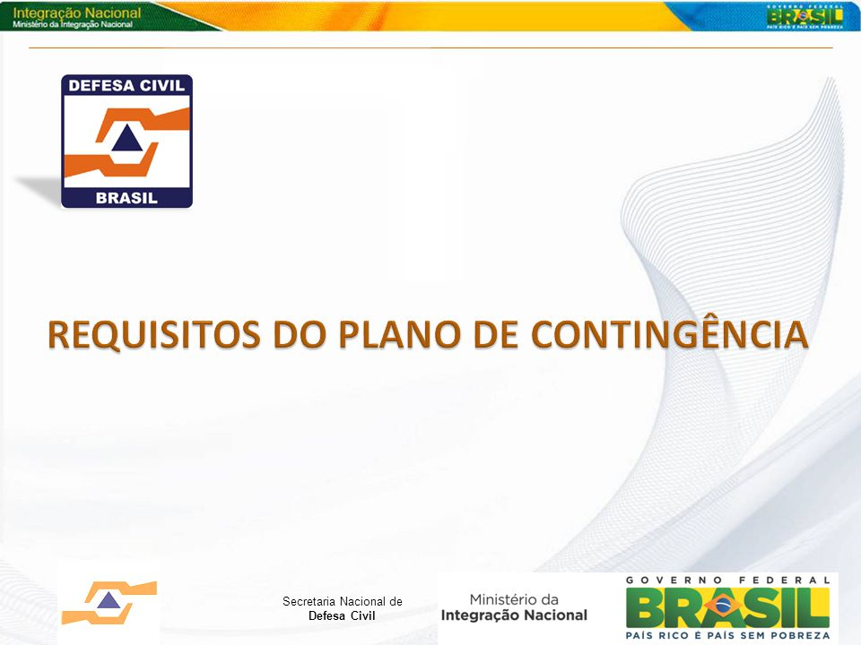 REQUISITOS DO PLANO DE CONTINGÊNCIA