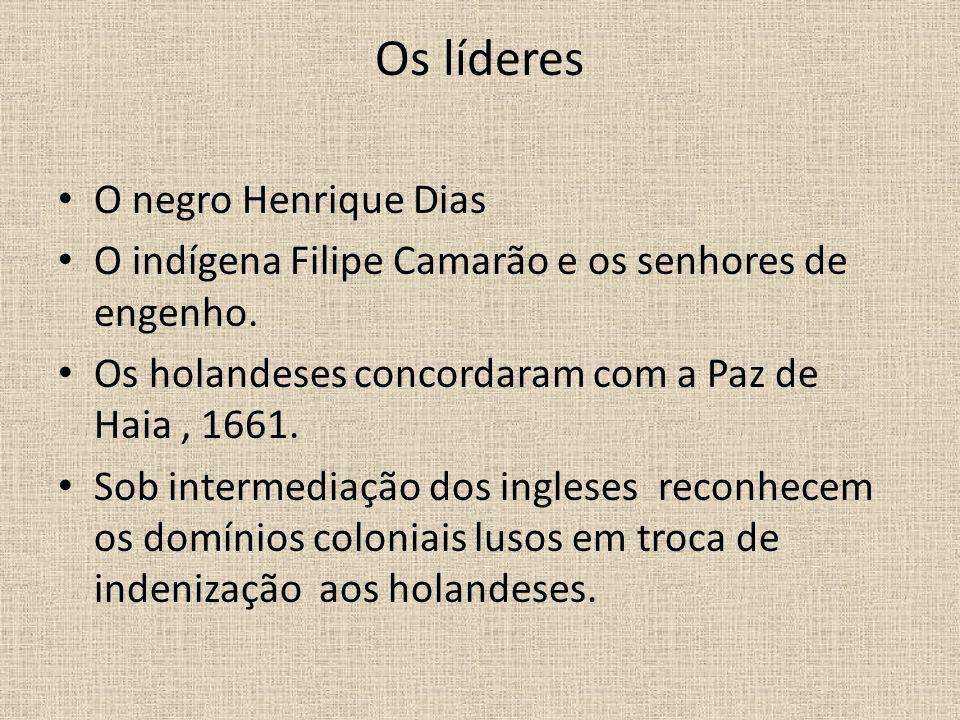 Os líderes O negro Henrique Dias