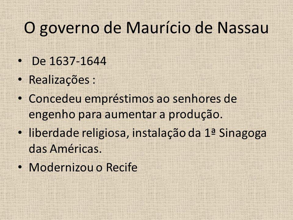O governo de Maurício de Nassau