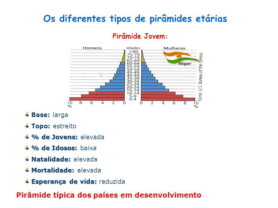 Os diferentes tipos de pirâmides etárias