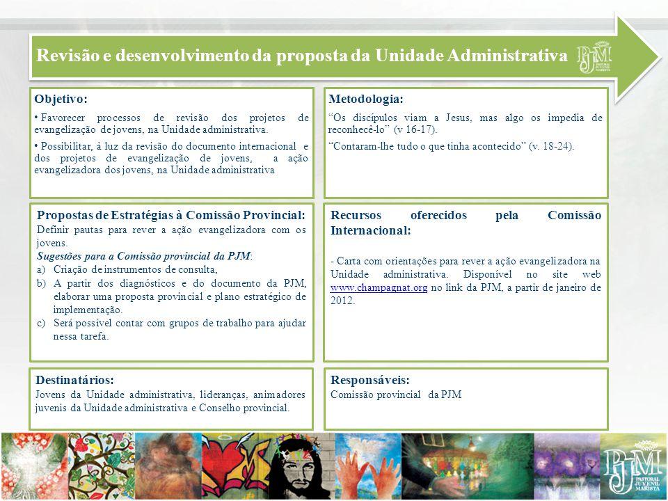 Revisão e desenvolvimento da proposta da Unidade Administrativa