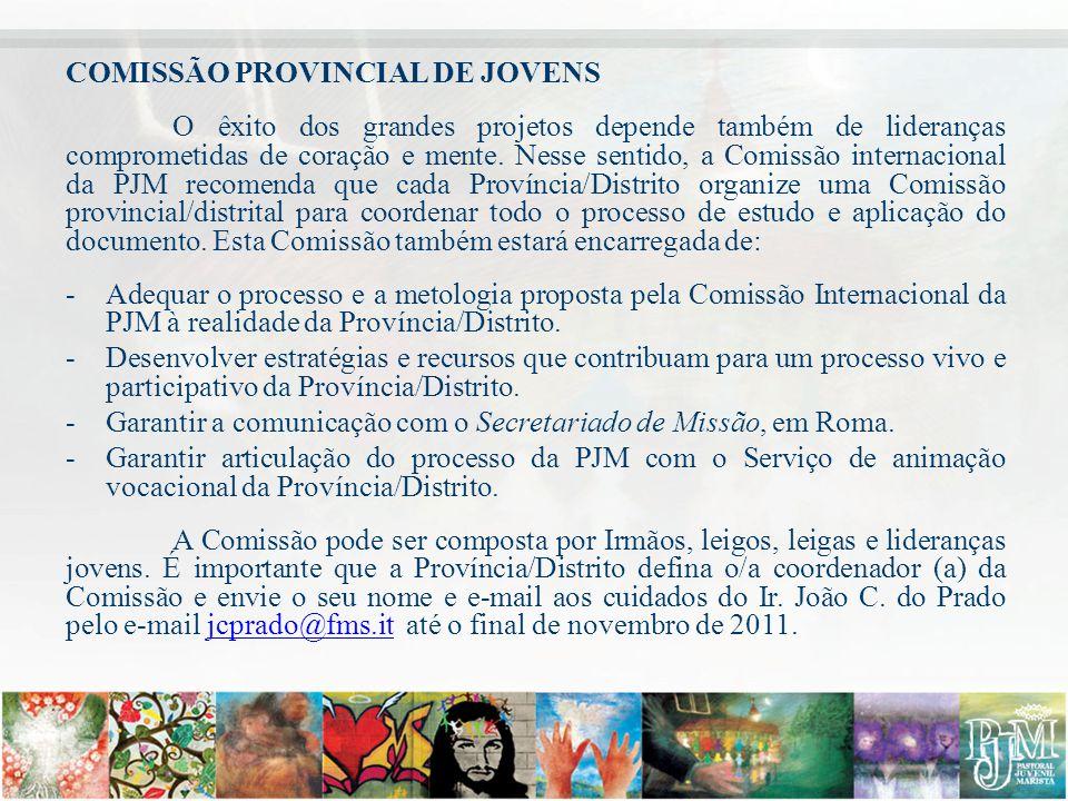 COMISSÃO PROVINCIAL DE JOVENS