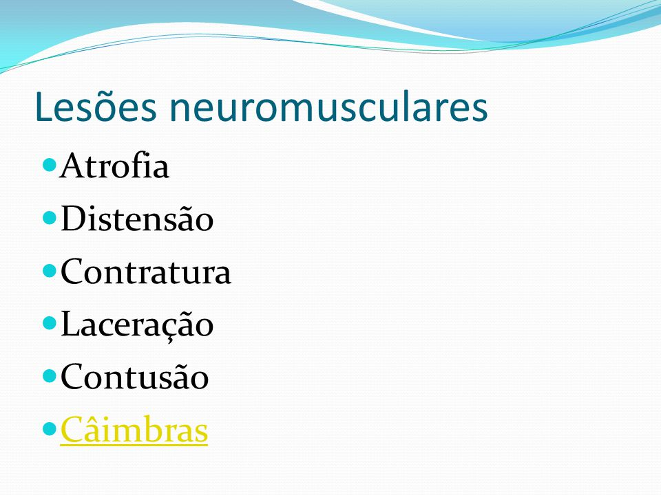 Lesões neuromusculares