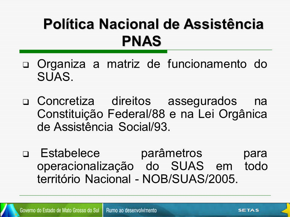 Política Nacional de Assistência