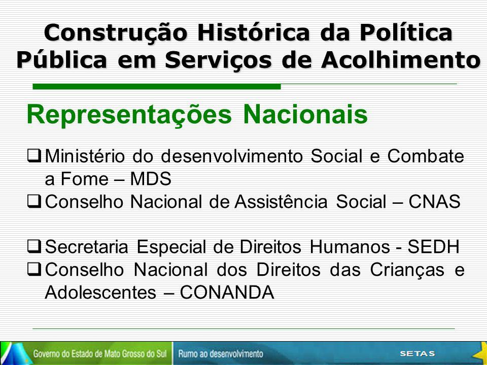 Construção Histórica da Política Pública em Serviços de Acolhimento