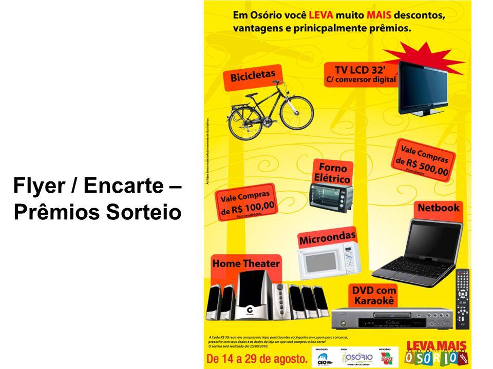Flyer / Encarte – Prêmios Sorteio