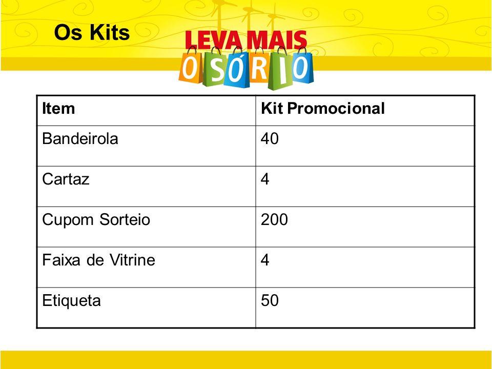 Os Kits Item Kit Promocional Bandeirola 40 Cartaz 4 Cupom Sorteio 200