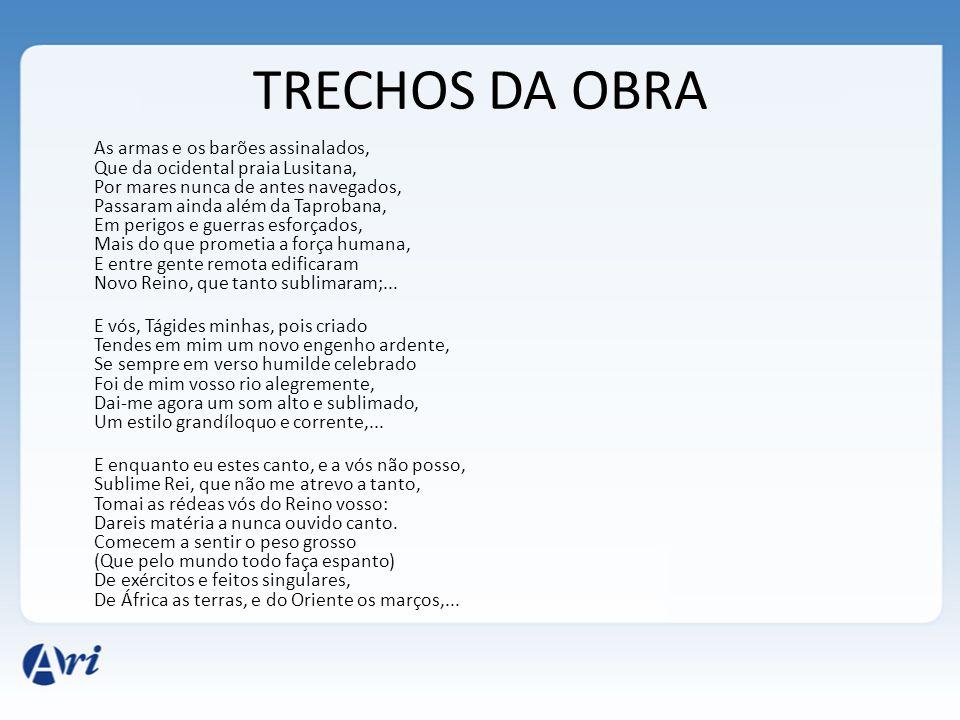 TRECHOS DA OBRA