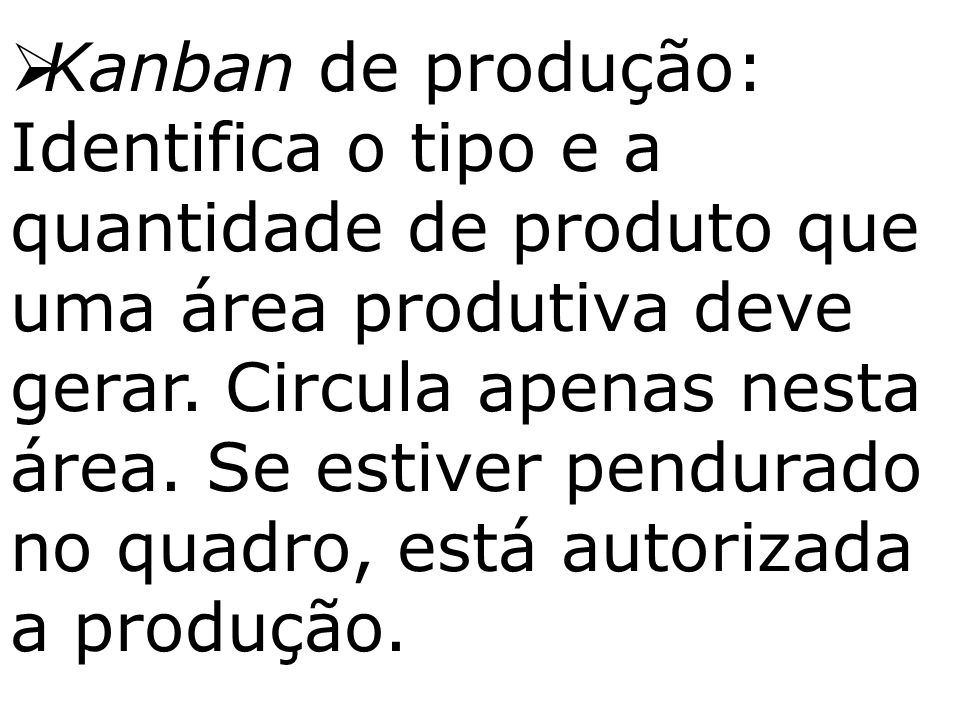 Kanban de produção: