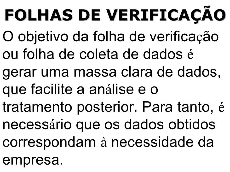 FOLHAS DE VERIFICAÇÃO