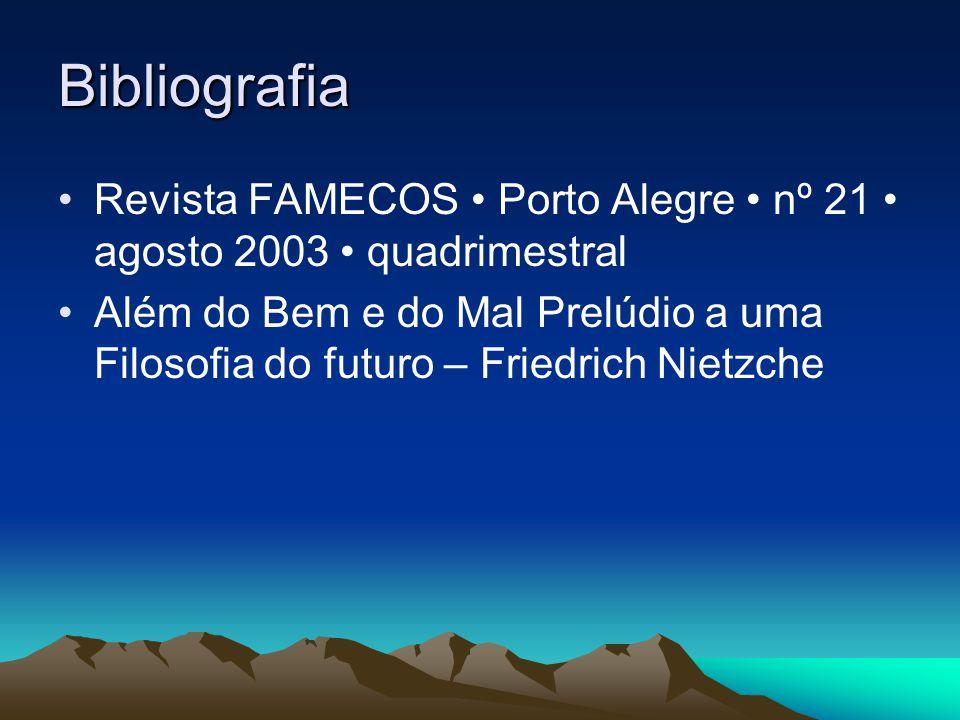 Bibliografia Revista FAMECOS • Porto Alegre • nº 21 • agosto 2003 • quadrimestral.