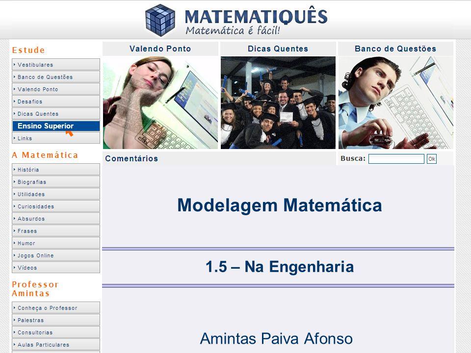 Modelagem Matemática 1.5 – Na Engenharia Amintas Paiva Afonso