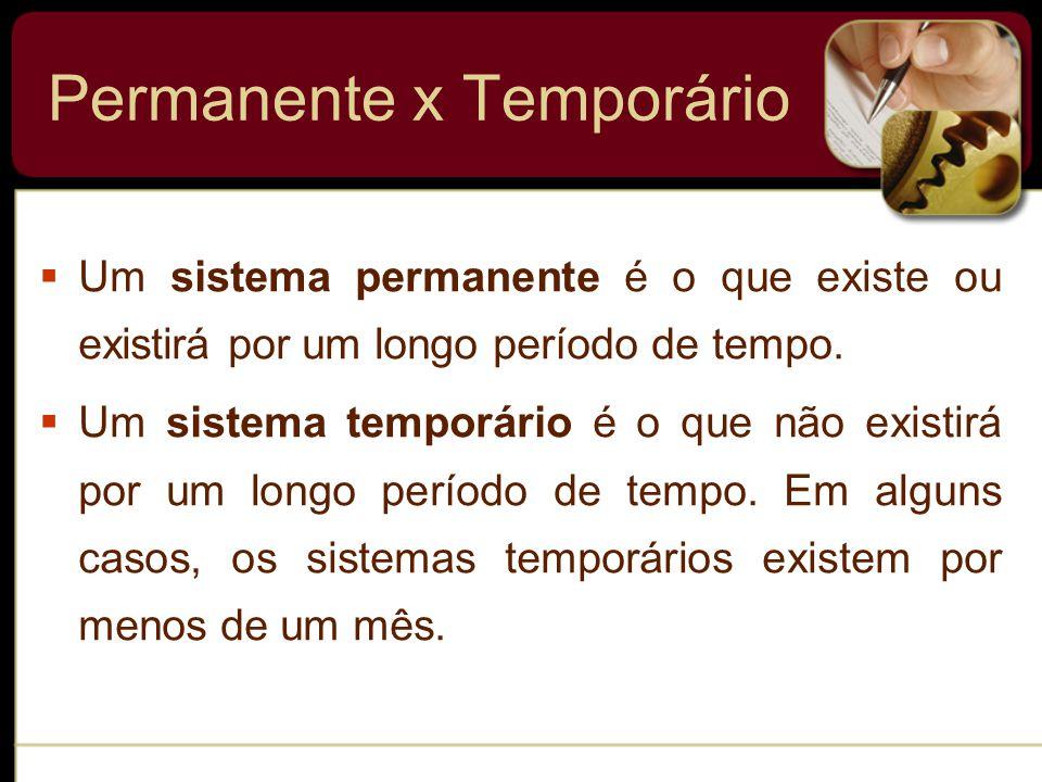 Permanente x Temporário