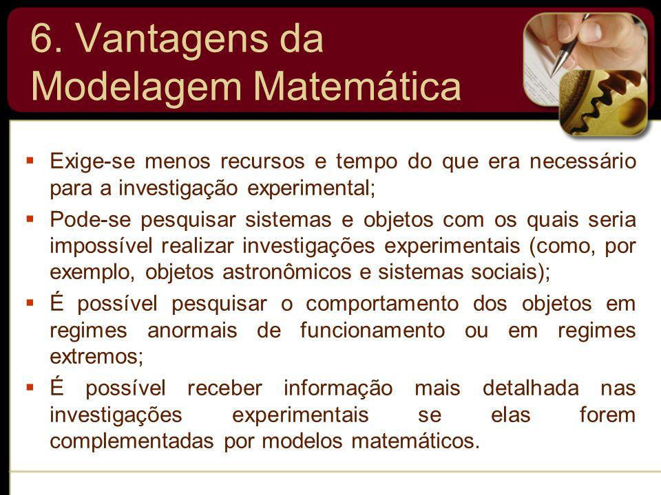 6. Vantagens da Modelagem Matemática