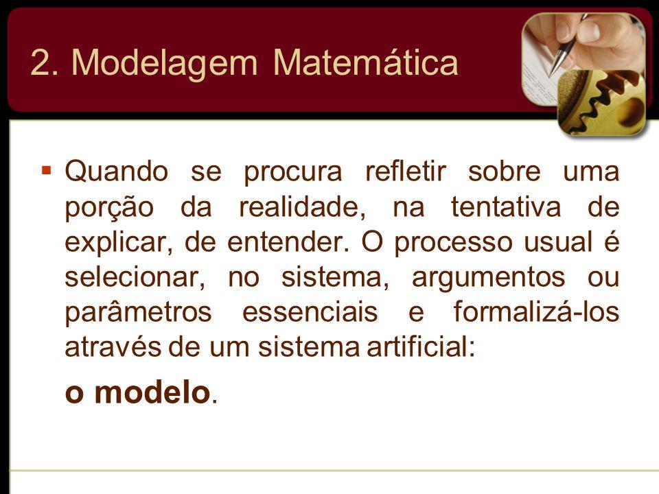 2. Modelagem Matemática o modelo.