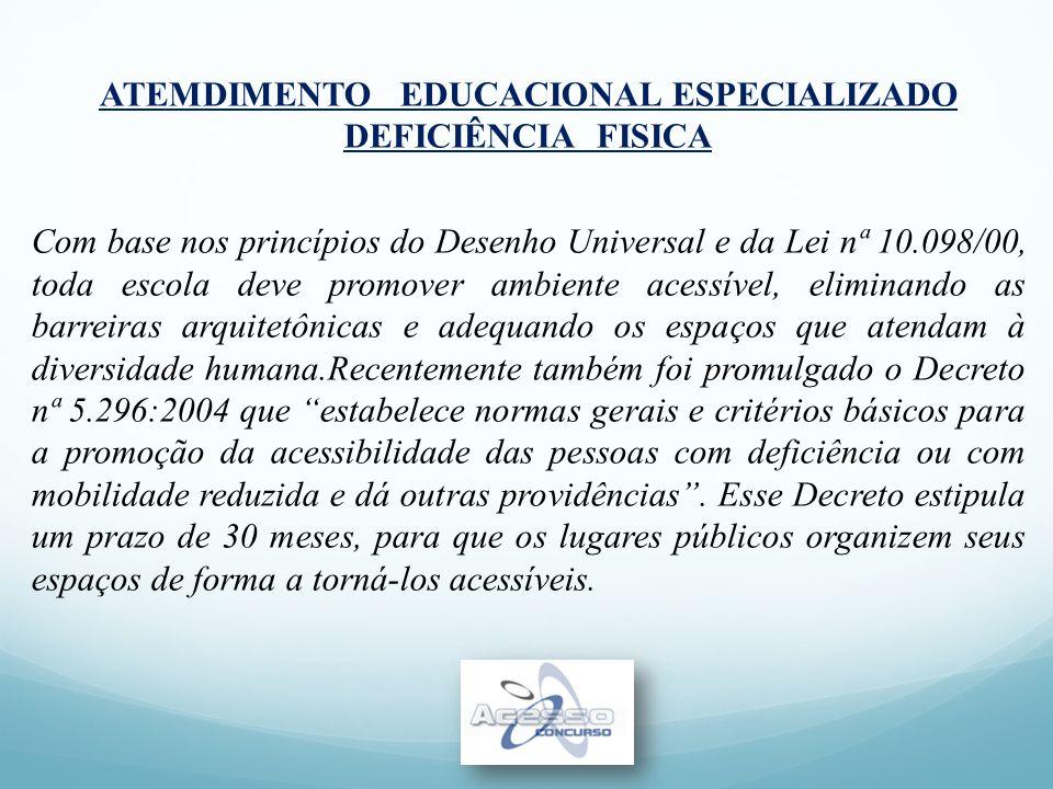 ATEMDIMENTO EDUCACIONAL ESPECIALIZADO DEFICIÊNCIA FISICA