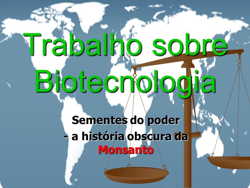 Trabalho sobre Biotecnologia