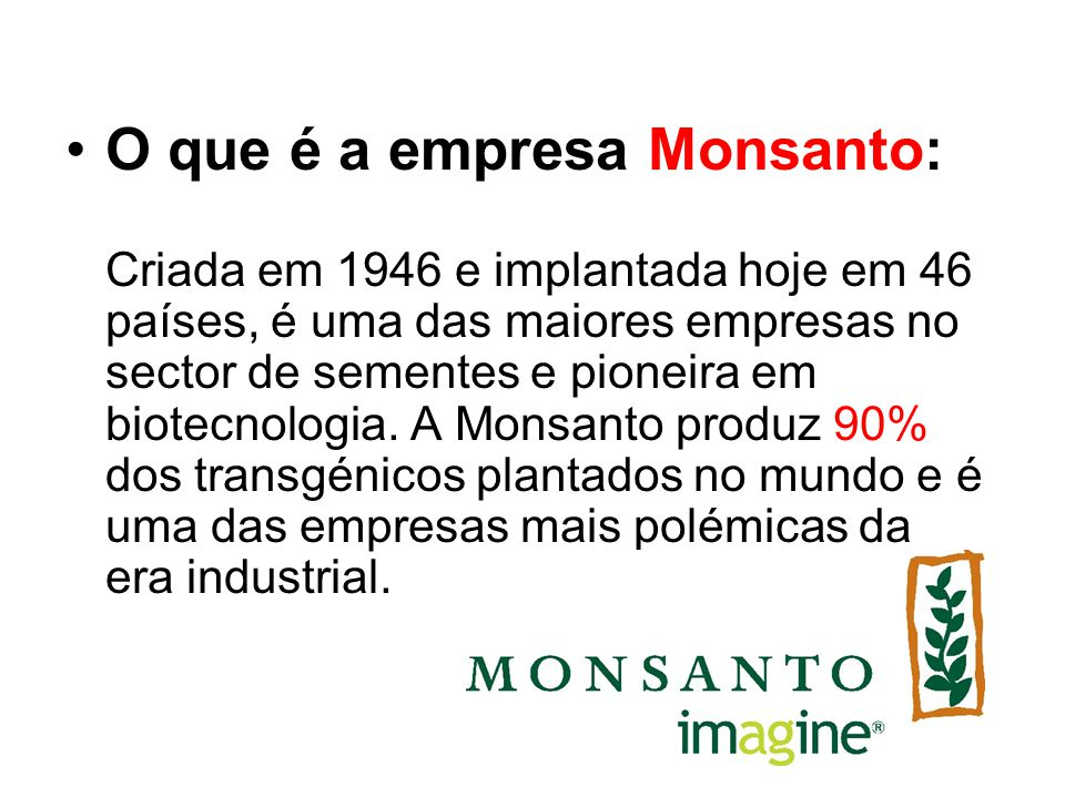 O que é a empresa Monsanto: