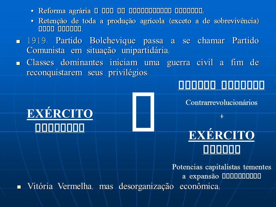 X RUSSOS BRANCOS EXÉRCITO BRANCO EXÉRCITO VERMELHO