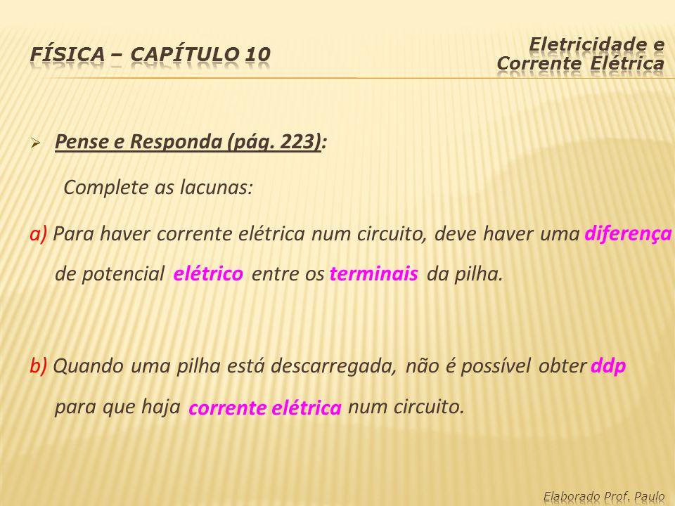 diferença elétrico terminais ddp corrente elétrica