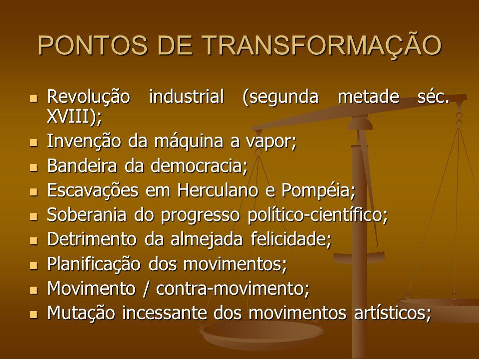 PONTOS DE TRANSFORMAÇÃO