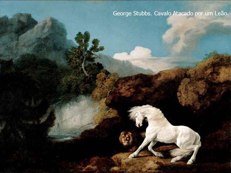 George Stubbs. Cavalo Atacado por um Leão.
