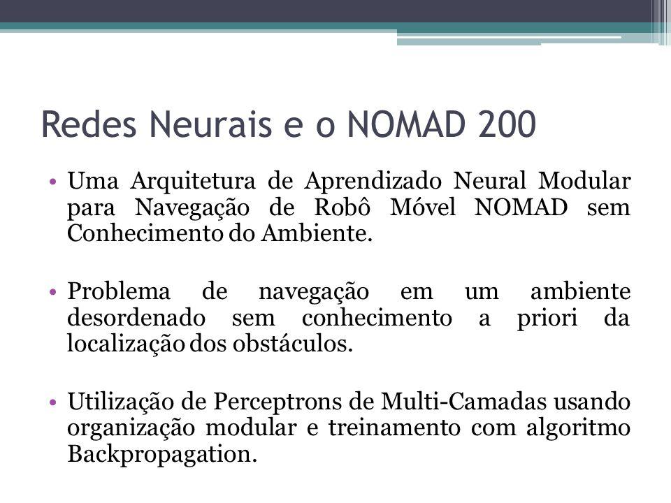 Redes Neurais e o NOMAD 200 Uma Arquitetura de Aprendizado Neural Modular para Navegação de Robô Móvel NOMAD sem Conhecimento do Ambiente.