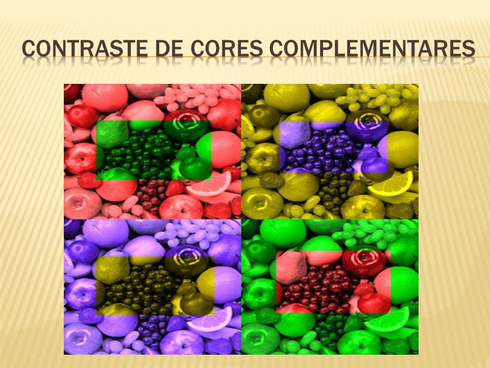 Contraste de cores complementares