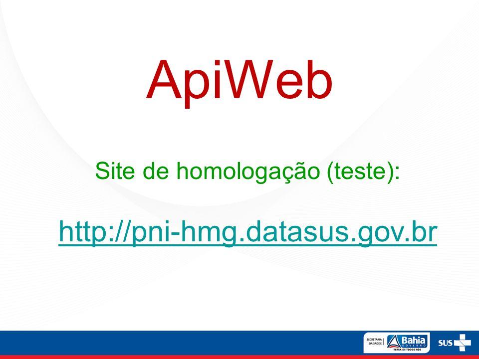 Site de homologação (teste):