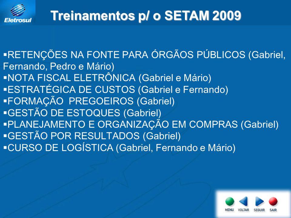Treinamentos p/ o SETAM 2009