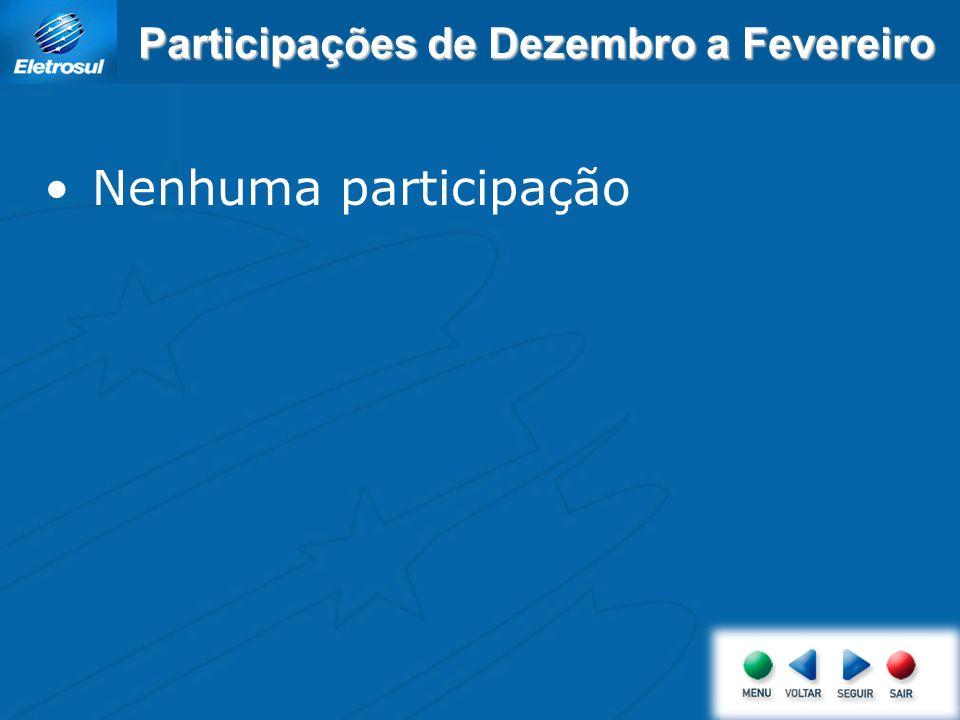 Participações de Dezembro a Fevereiro