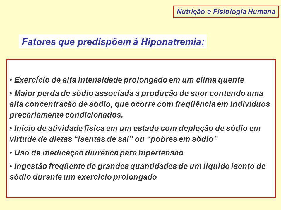 Fatores que predispõem à Hiponatremia: