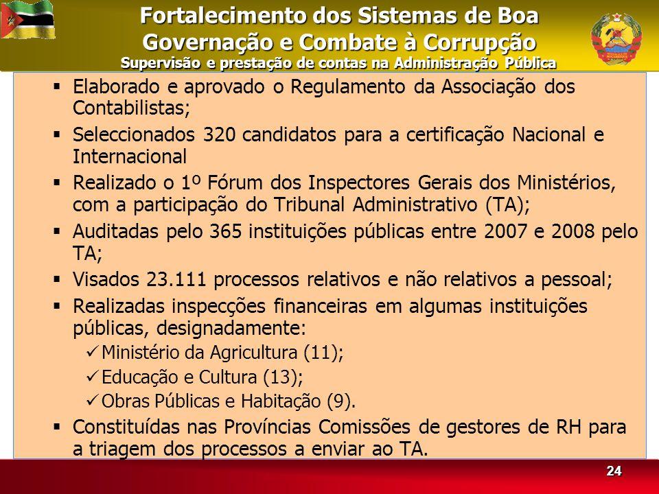 Fortalecimento dos Sistemas de Boa Governação e Combate à Corrupção Supervisão e prestação de contas na Administração Pública