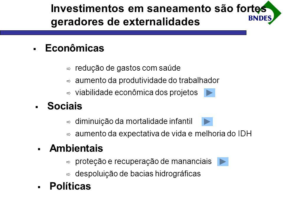 Investimentos em saneamento são fortes geradores de externalidades