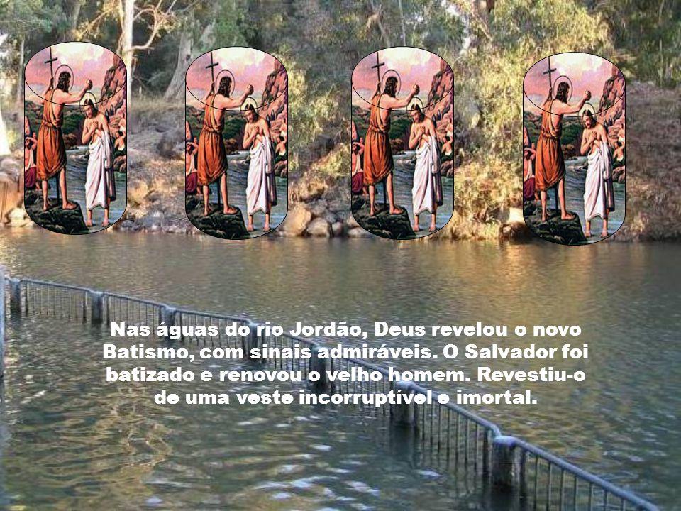 Nas águas do rio Jordão, Deus revelou o novo Batismo, com sinais admiráveis.
